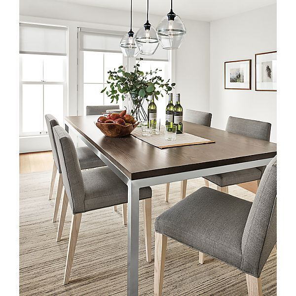 Portica Table With Walnut Top Modern Dining Room Furniture