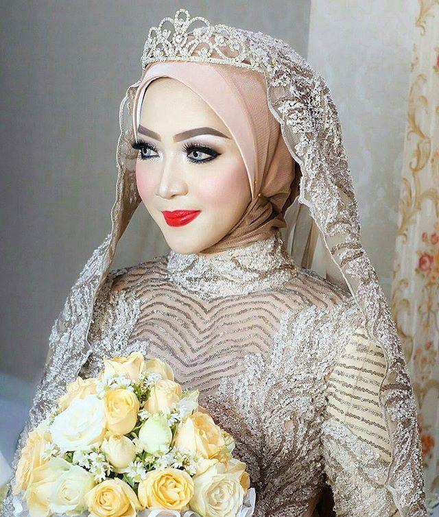 Makeup Hijab By Me Vizzily Akadnikah Weddingdress