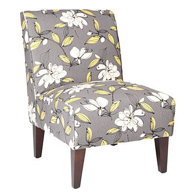 Best Armless Accent Chair Bremer Graphite Floral At Big Lots 400 x 300