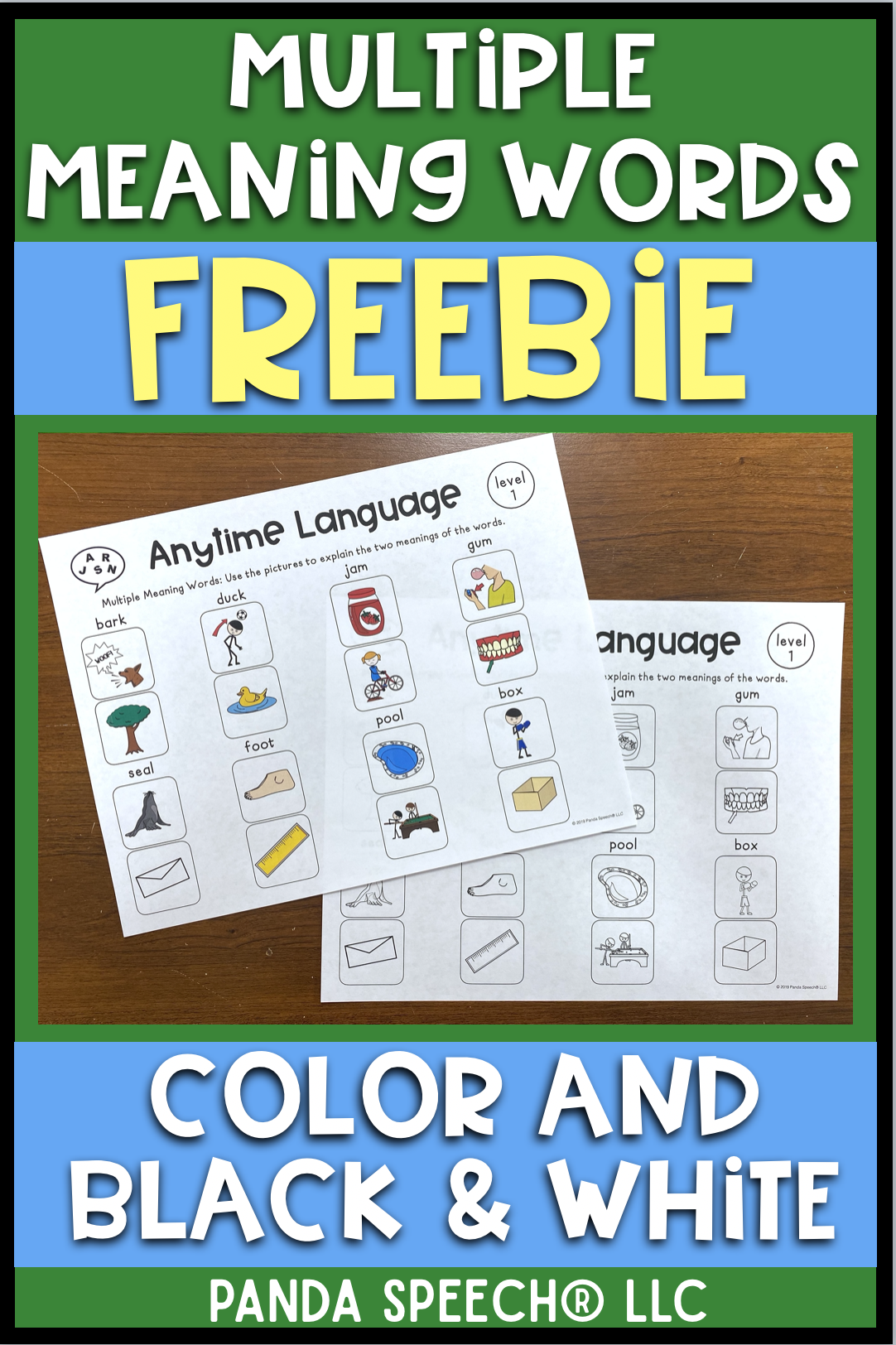 Multiple Meaning Words Freebie In