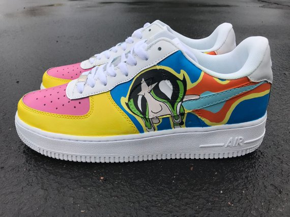 d6a1468c3634a Drippy Buttercup Powerpuff Girls Custom Nike Air Force 1 Shoes ...