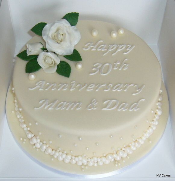 30th Wedding Anniversary Cake With Images 30th Wedding