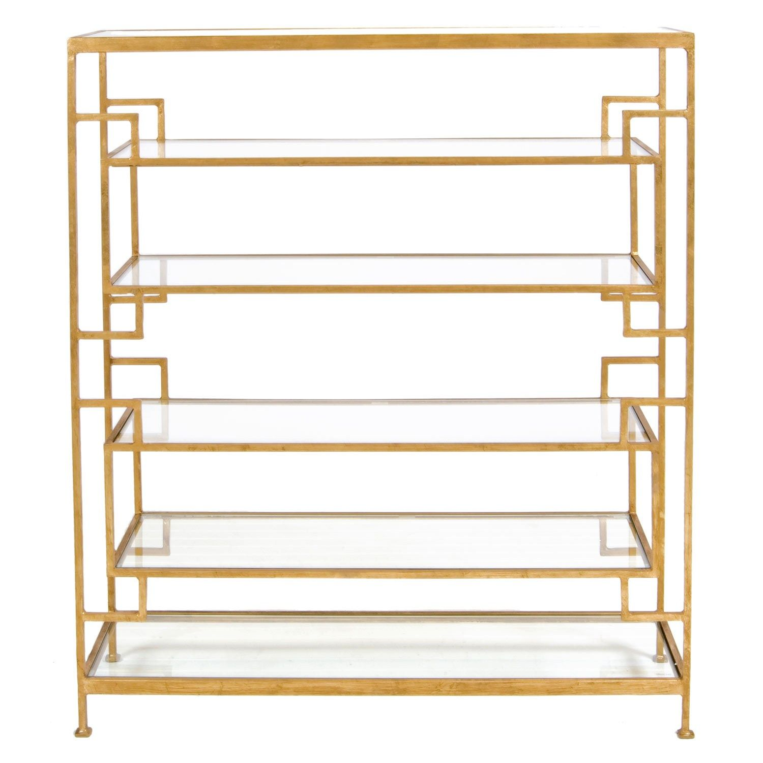 Zinc Door Gold Etagere Bookcase With Images Gold Etagere