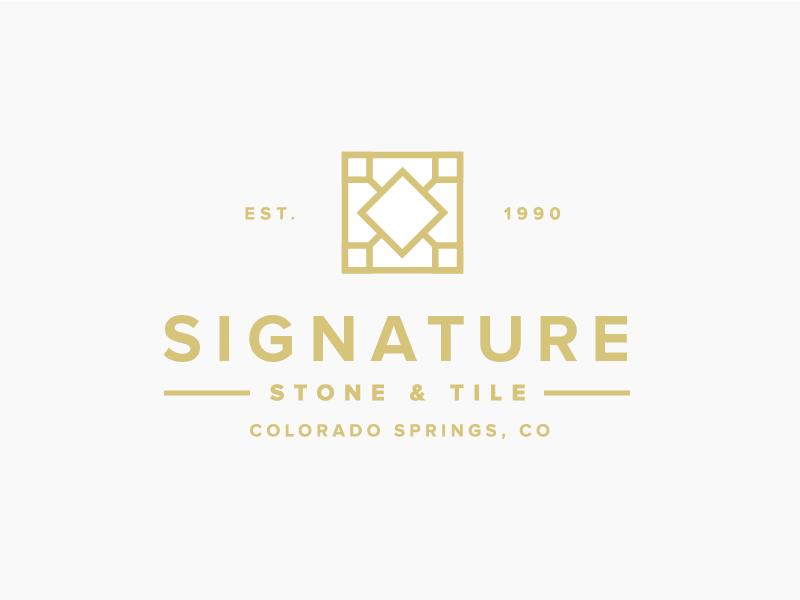 signature stone tile brand pinterest stone tiles and logos rh pinterest com tile logo design tile logo design