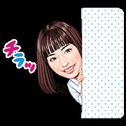 Suzu Hirose × Shaprise - http://www.line-stickers.com/suzu-hirose-x-shaprise/