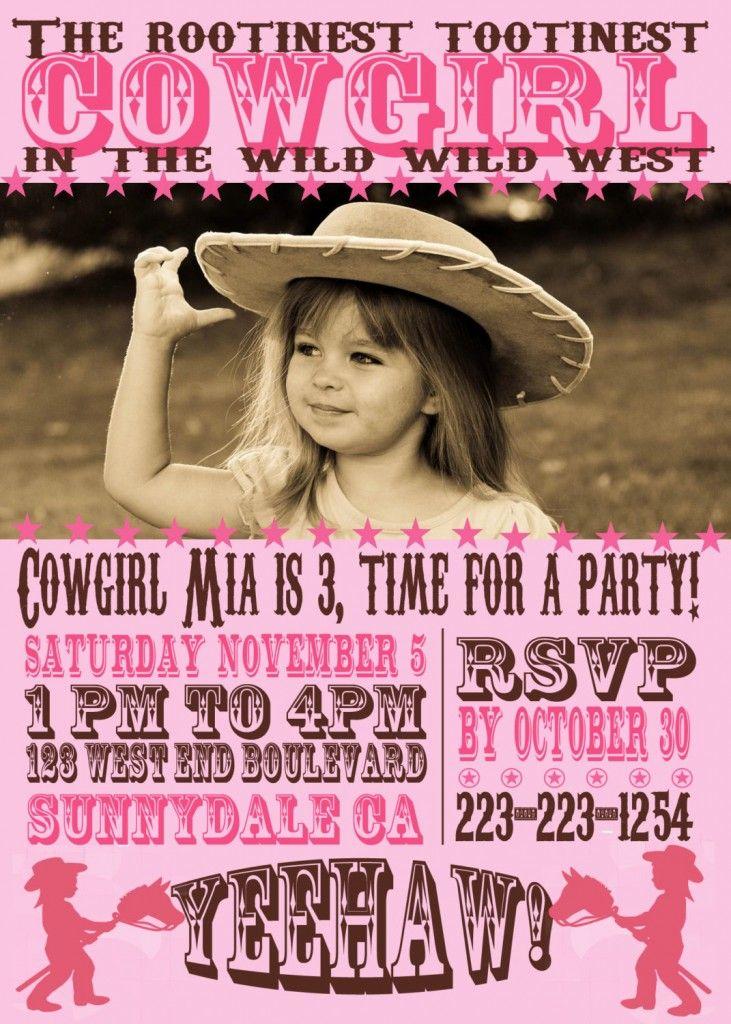 buy cowgirl birthday invitations – Buy Birthday Invitations