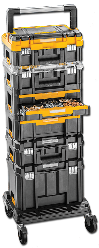 dewalt tstak system: the system includes six different types of ...