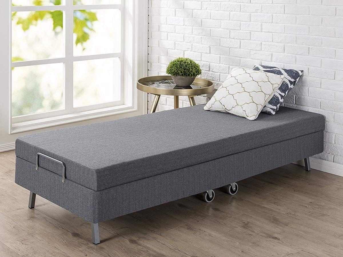 Memory Foam Resort Folding Guest Bed With Wheels Narrow Twin 30