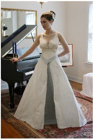 duct tape, glitter glue and toilet paper wedding dress | WEDDINGS ...