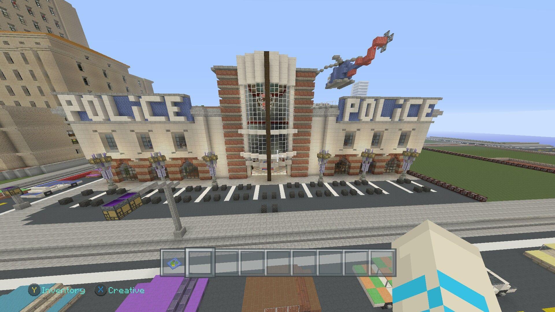 Minecraft Police station | Me | Minecraft buildings