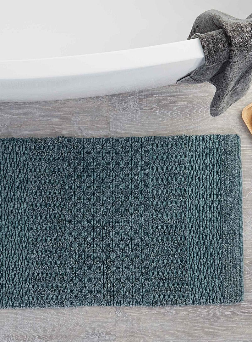 Textured Stripe Bath Mat 50 X 80 Cm