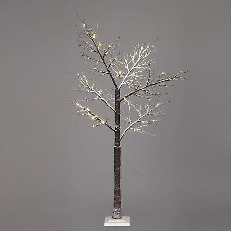 """Buy John Lewis Prelit Snowy Paper Christmas Tree, 6ft 8"""" Online at ..."""