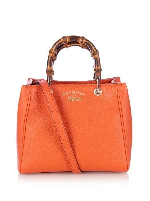 118e87b29ea Gucci Bamboo mini leather cross-body bag