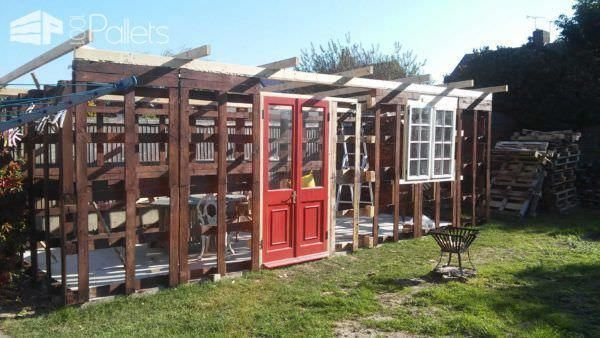 Photo of How I Made My Shed from 140 Pallets DIY Pallet Bars Pallet Sheds Pallet Cabins
