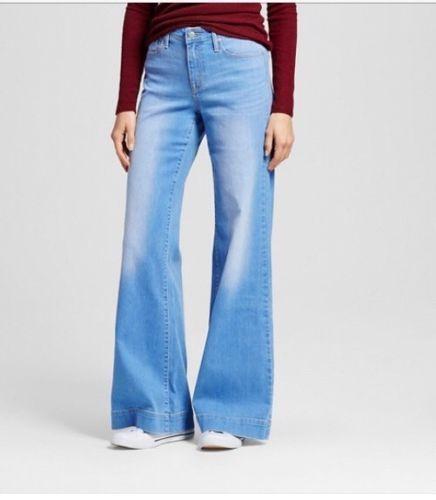 40fa7314cd8 Women s Mossimo Denim High-rise Wide Leg Jeans Size 18 34R super stretch  NEW .99  Mossimo  WideLeg