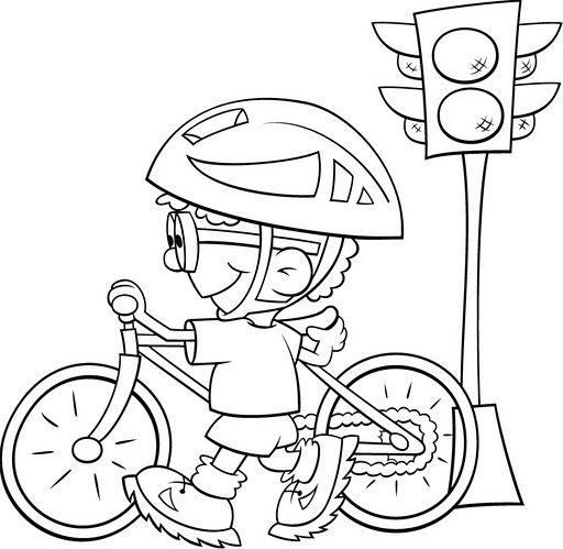 Bicicleta casco | Fichas seguridad bicicletas infantiles | Pinterest ...