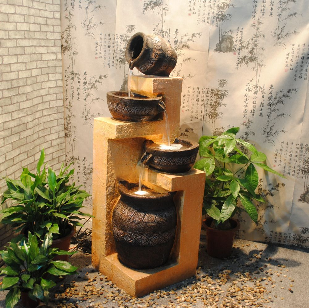 2014 european resin rockery creative feng shui water Home water features