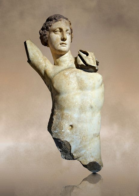 Greek Hellenistic marble statue of Apollo, God of light, fine arts & prophecy, 2nd cent. B.C. Istanbul Archaeological museum
