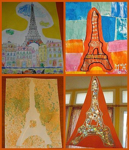 Connu collage-tour-eiffel   tour du monde maternelle   Pinterest   School FW76