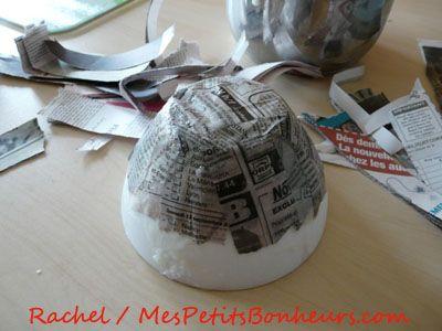 Bricolage facile : colle maison et vide-poche en papier maché