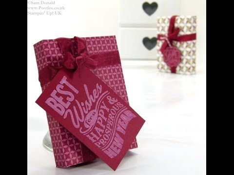 New Year Envelope Punch Board Shortbread Gift by Stampin' Up! UK Independent Demonstrator Pootles