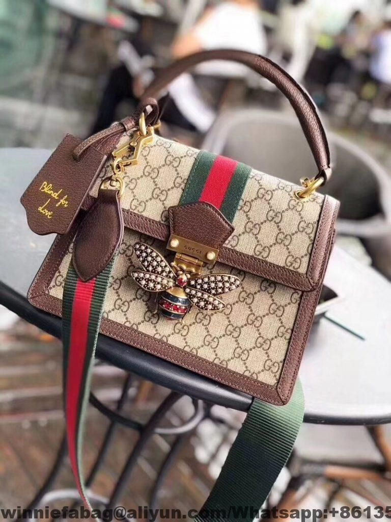 b0576278063aa9 Gucci Queen Margaret GG Small Top Handle Bag 476541 2018  #VintageLeatherHandbags