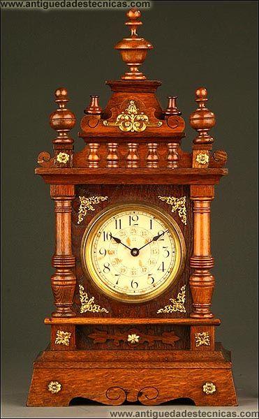 Reloj de sobremesa junghans alemania primer tercio s xx - Relojes decorativos de mesa ...