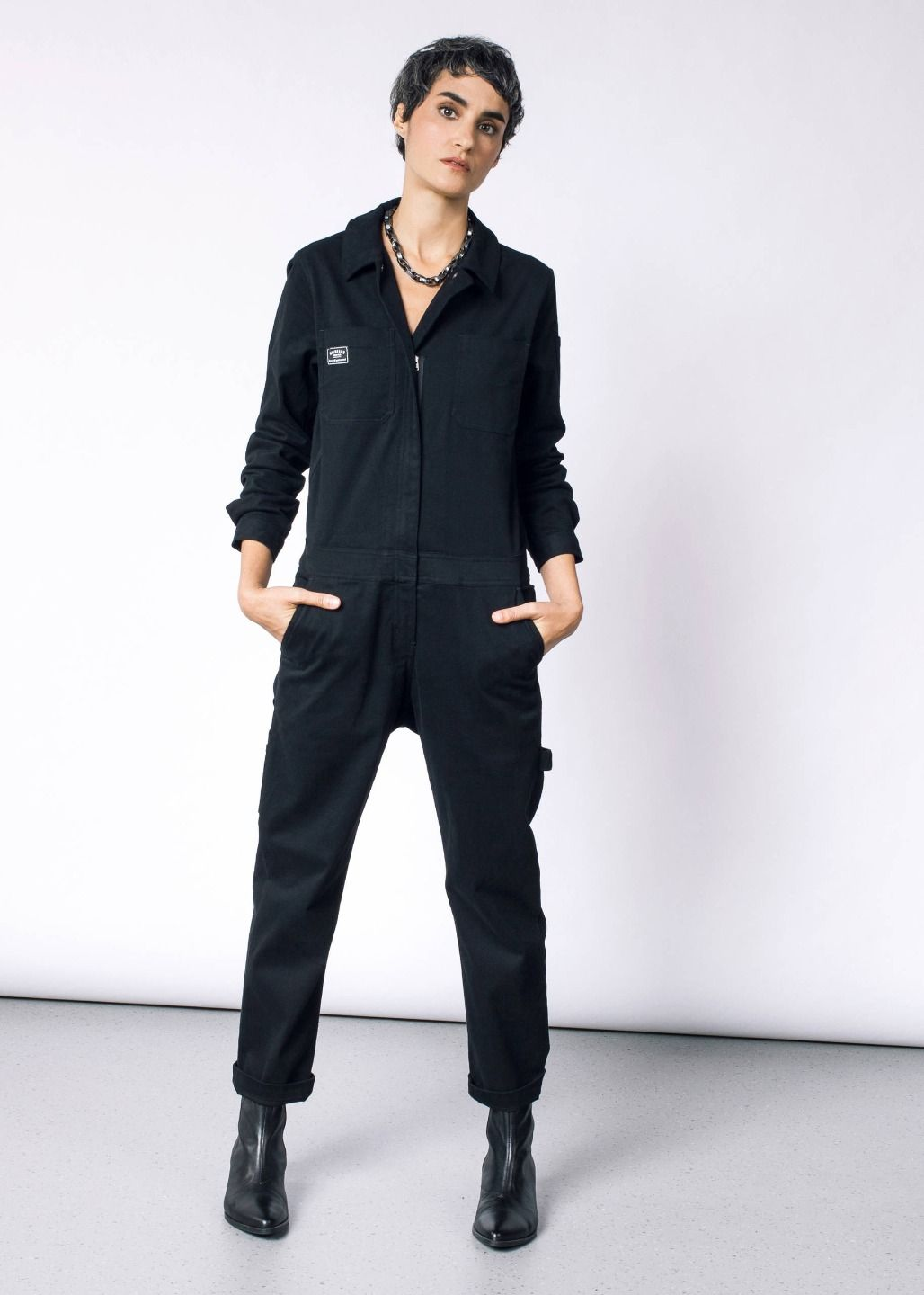 wildfang workwear coverall black xxlarge work wear on work coveralls id=71166