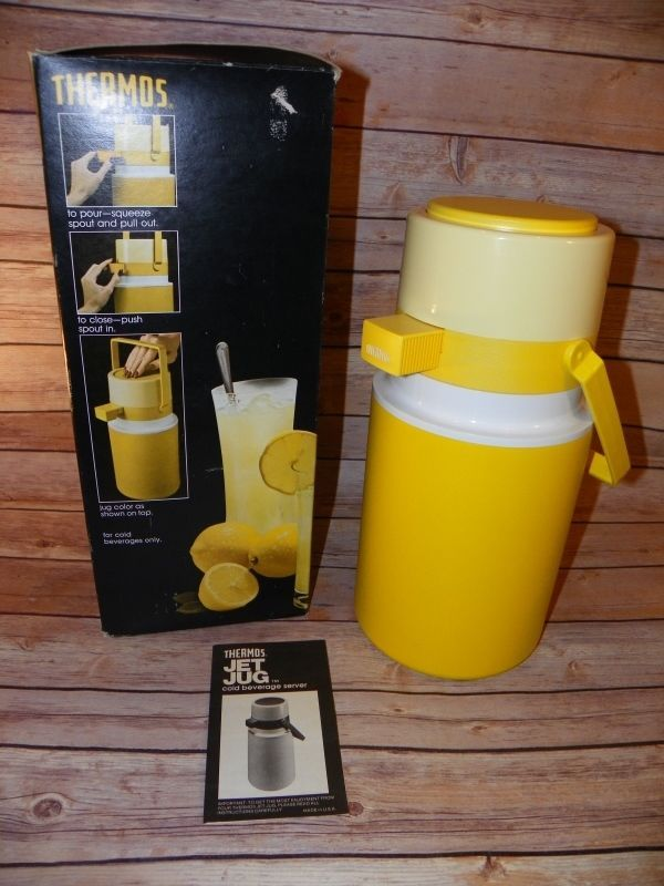 Vintage Thermos Jet Jug 1 2 Gallon Pump Top Insulated Drink Dispenser Yellow Vintage Thermos Drink Dispenser Thermos