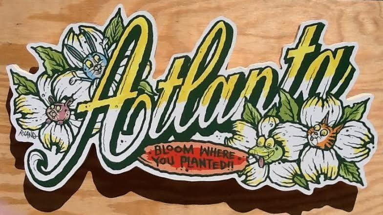 Image of Bloomin' Atlanta wall art