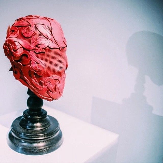 Our mask at Kiev Fashion Week 2014. #bobbasset #leather #leatherwork #art…