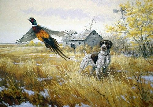 f92cc838bc1c pheasant paintings | Sporting Art Oil Painting ] | decor bottles ...