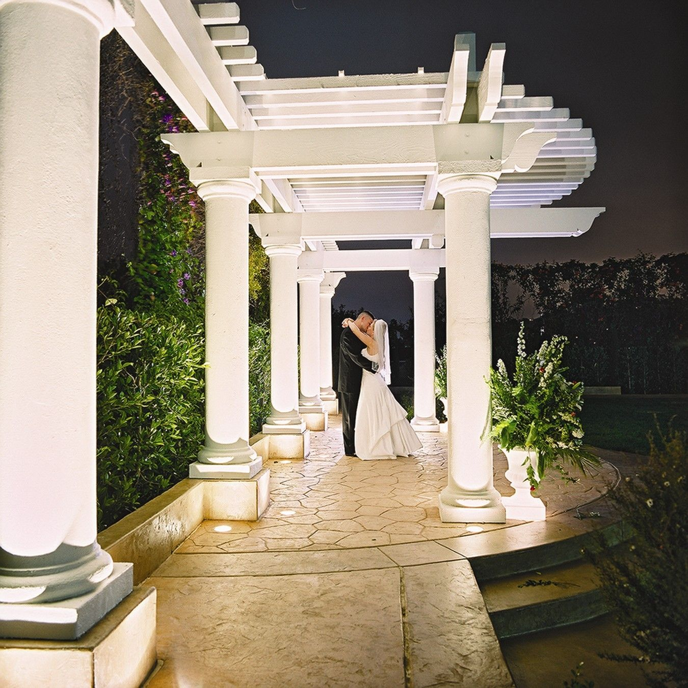 Evening Wedding Ceremony In The Beautiful Outdoor Terrace