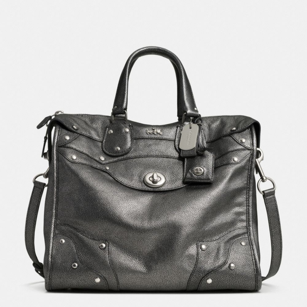 The Rhyder 33 Satchel In Metallic Leather From Coach Really Luv This Purse 3