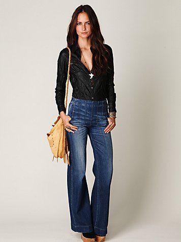 darted high waisted jeans