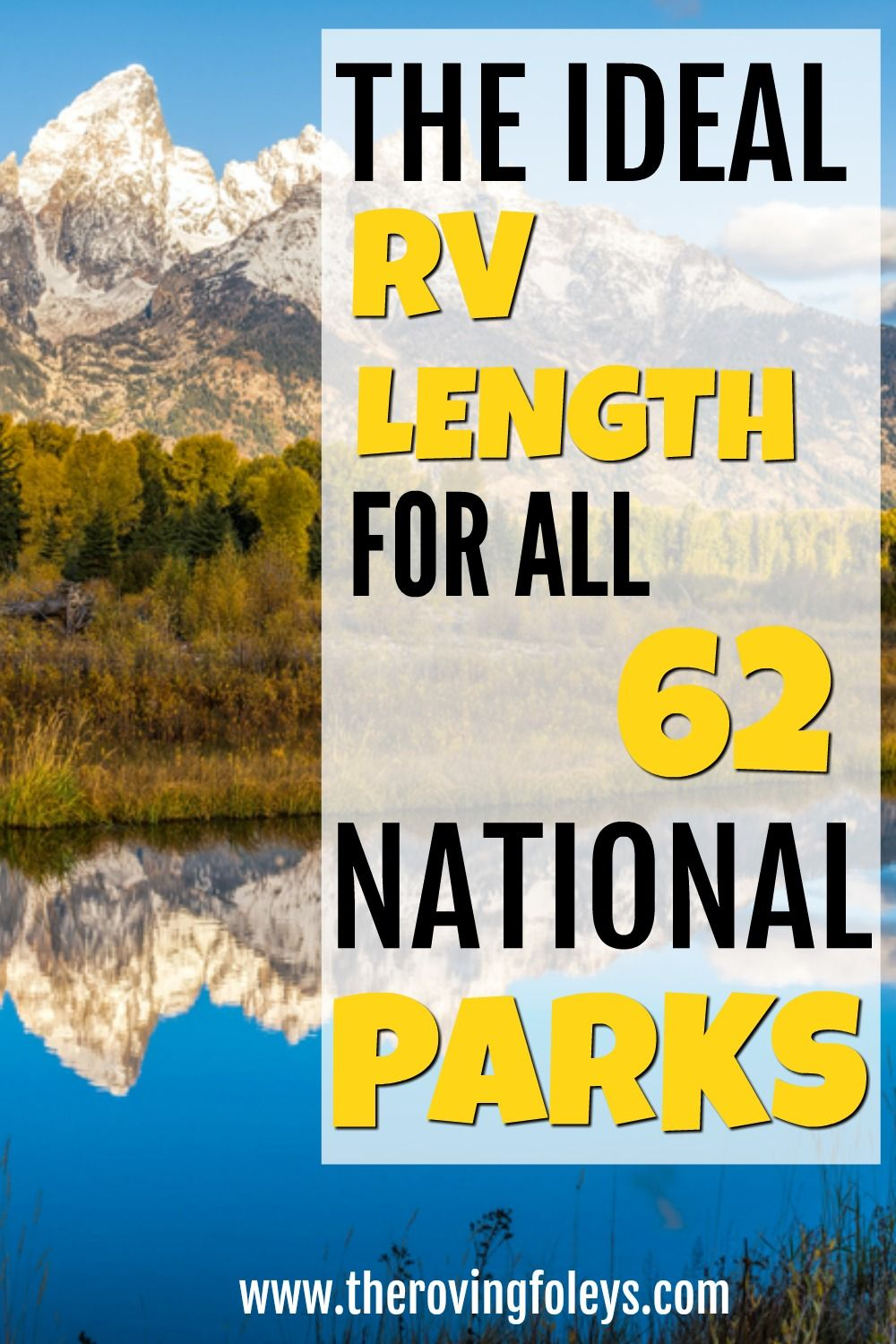 2020 Guide National Parks Rv Length Every Park The Roving Foley S In 2020 National Parks Rv Road Trip Rv Road Trip Planner