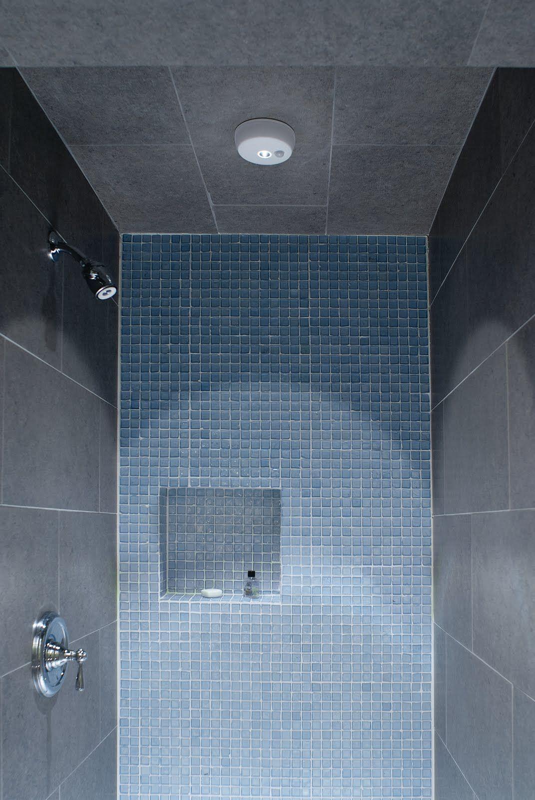 Recessed shelf in tile shower stall | New bathroom | Pinterest ...