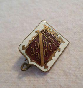 Antique Alsace Lorraine Crest Pin, Crown Design, Enamel,Germany France, Vintage