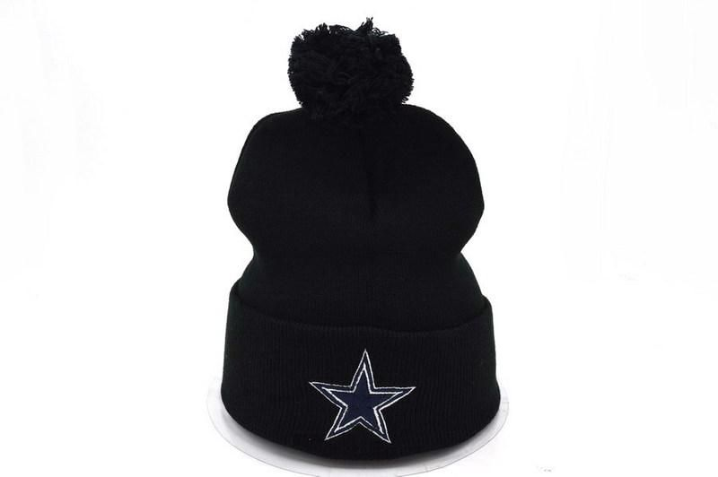 Mens   Womens Dallas Cowboys NFL Classic Skullie Fashion Sports Black Pom  Knit Beanie Cap - Black 71a1df1b6