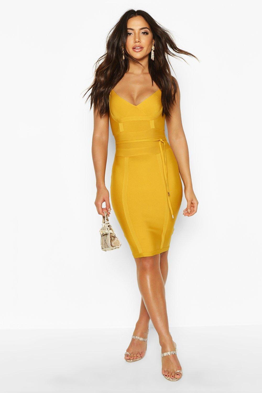 Boutique Bandage Tie Detail Mini Dress Boohoo Mini Dress Dresses Bodycon Dress [ 1500 x 1000 Pixel ]