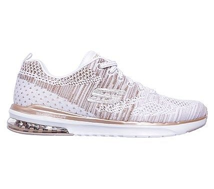 bd4301e1a123 Skechers Women s Infinity Stand Out Memory Foam Sneakers (White Rose Gold)