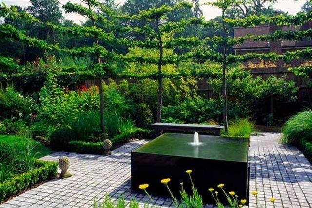 Landschaftsdesign Ideen Garten Mit Wasser Verlegen Trendig