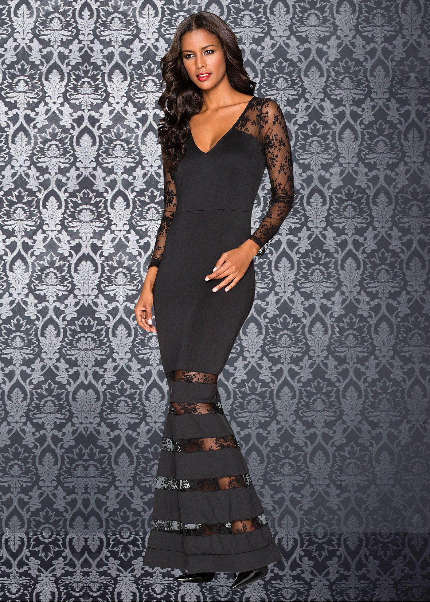 Vestido de festa vermelho encomendar agora na loja on-line bonprix.de  R$ 169,00 a partir de Vestido de noite perfeito! Com aplicações de renda nas mangas e ...
