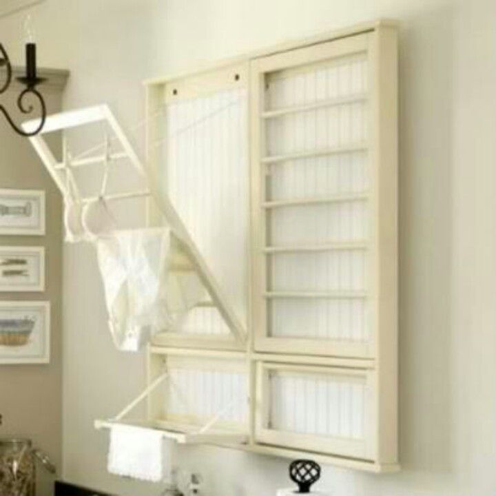 another cute wall mounted clothes dryer