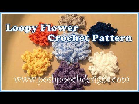 Loppy Flower Crochet Pattern Youtube Another Crochet Board