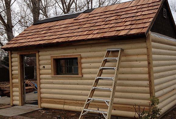 3x8 Log Siding Shed W Cedar Siding Log Siding Garage