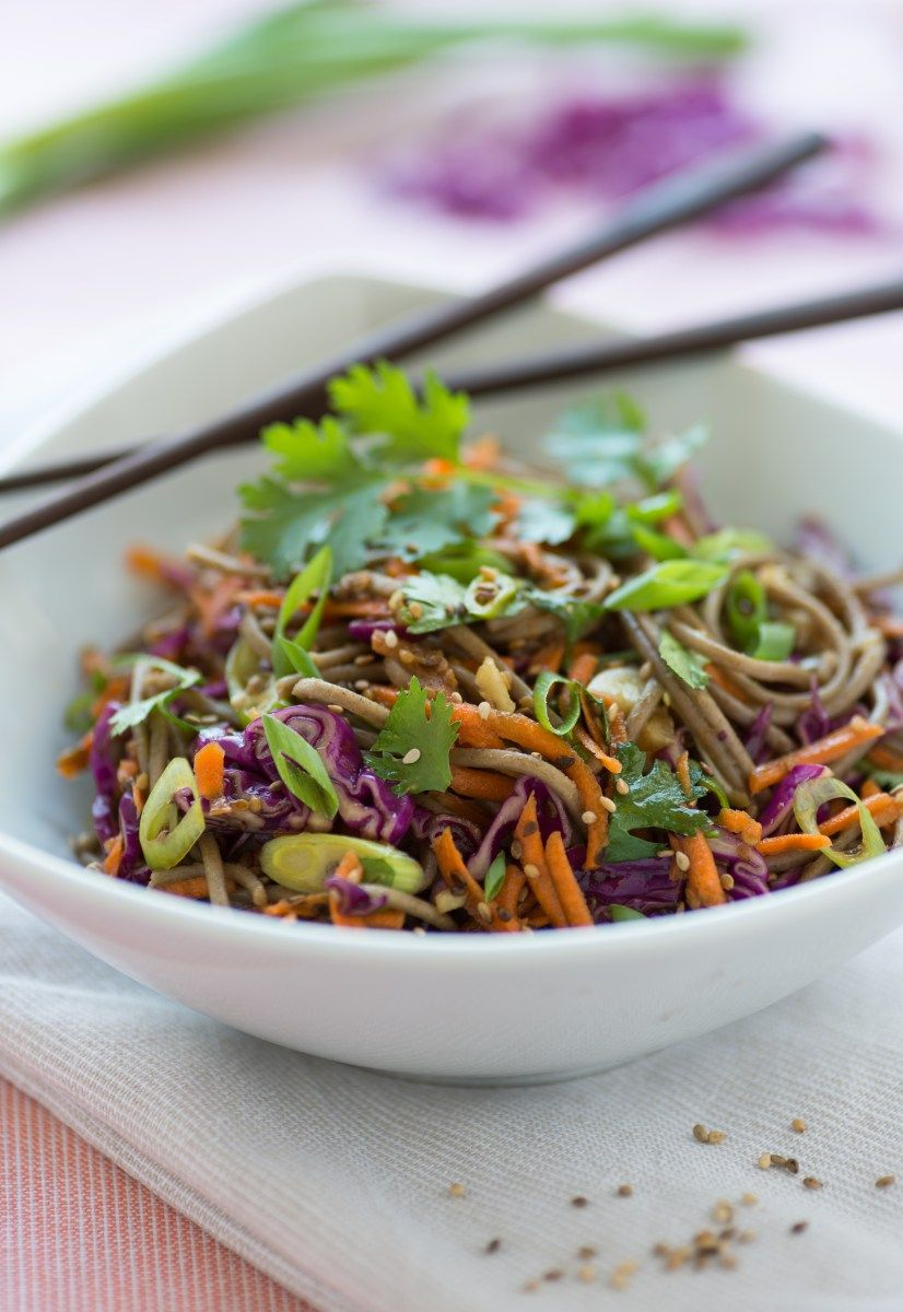 Soba Noodle Salad with Veggies