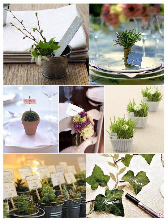 marque place mariage vegetal pot lierre herbe chat porte ...