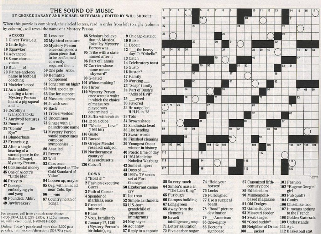 Music Crossword Puzzle coloring.rocks! Crossword