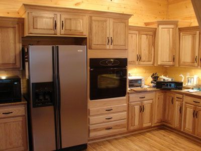hickory kitchen cabinets with dark countertop - Google Search ...